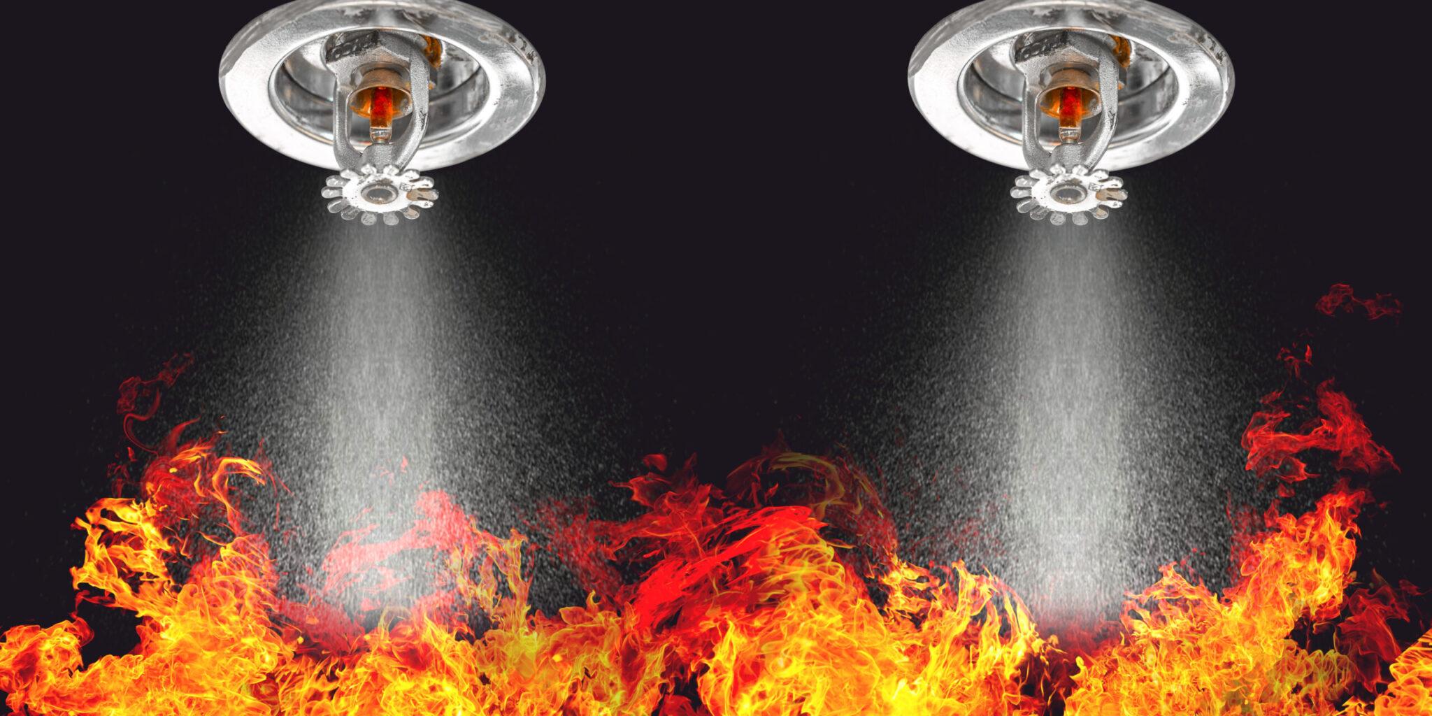 Fire Sprinklers Spraying